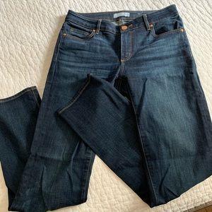 LOFT Curvy Straight Size 4 Dark Wash Jeans